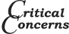 Critical Concerns Logo